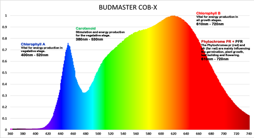 Budmaster COB LED Grow Light Spectrum