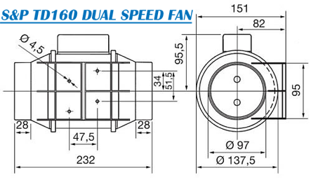 S&P TD160 Extraction Fan