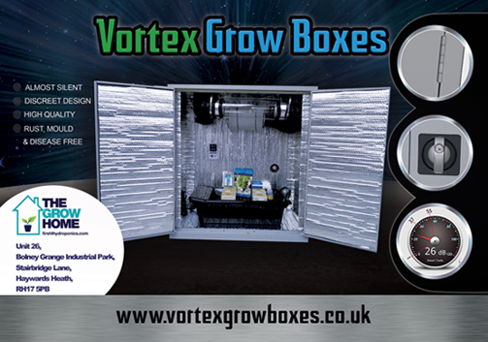 Vortex grow boxes advert